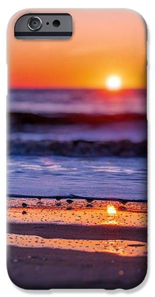 Ocean Sunset iPhone Cases - Assateague Sunrise - Ocean - Virginia iPhone Case by Sharon Norman