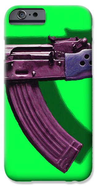 Assault Rifle Pop Art - 20130120 - v3 iPhone Case by Wingsdomain Art and Photography