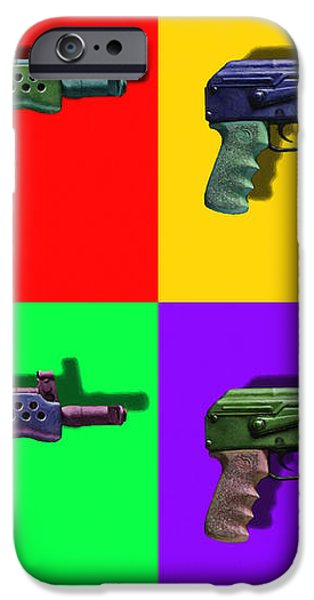 Assault Rifle Pop Art Four - 20130120 iPhone Case by Wingsdomain Art and Photography