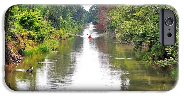 River View iPhone Cases - Assawoman Canal - Delaware iPhone Case by Kim Bemis