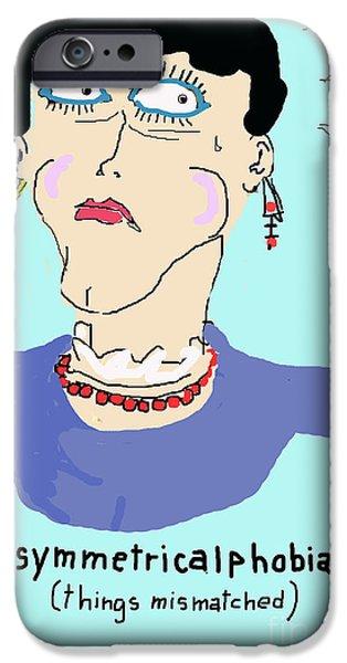 Asymmetrical iPhone Cases - Assymetricalphobia iPhone Case by Joe Jake Pratt