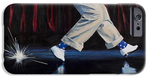 4th July Paintings iPhone Cases - Astaire iPhone Case by Loretta McNair