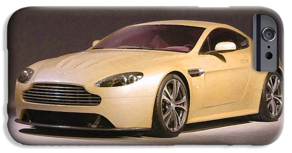 Flashy Paintings iPhone Cases - Aston Martin 5 iPhone Case by Lanjee Chee