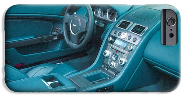 Flashy Paintings iPhone Cases - Aston Martin 7 iPhone Case by Lanjee Chee