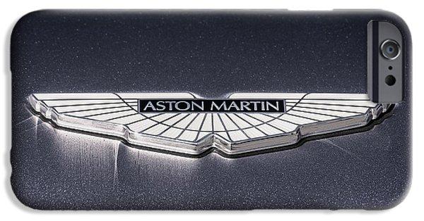 British Digital Art iPhone Cases - Aston Martin Badge iPhone Case by Douglas Pittman