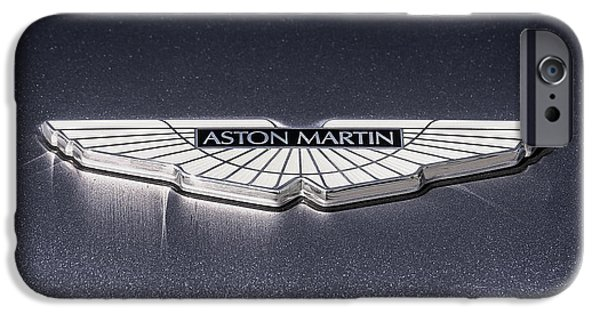Badge iPhone Cases - Aston Martin Badge iPhone Case by Douglas Pittman