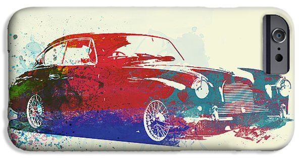 Vintage Car iPhone Cases - Aston Martin DB2 iPhone Case by Naxart Studio
