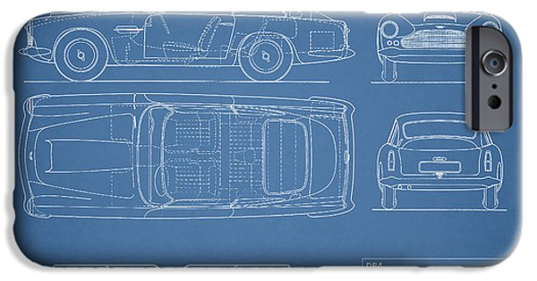 Recently Sold -  - Antiques iPhone Cases - Aston Martin DB4 Blueprint iPhone Case by Mark Rogan