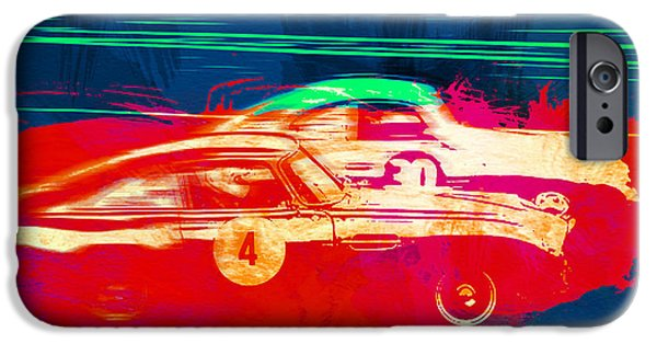 Racing Photographs iPhone Cases - Aston Martin vs Porsche iPhone Case by Naxart Studio