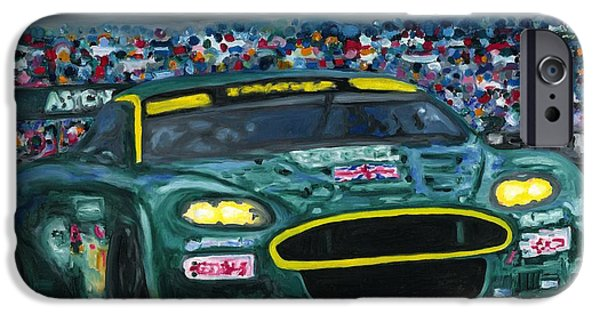 Le Mans 24 iPhone Cases - Aston Martin Wins Le Mans 2008 iPhone Case by Ran Andrews