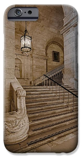 Astor Hall NYPL iPhone Case by Susan Candelario