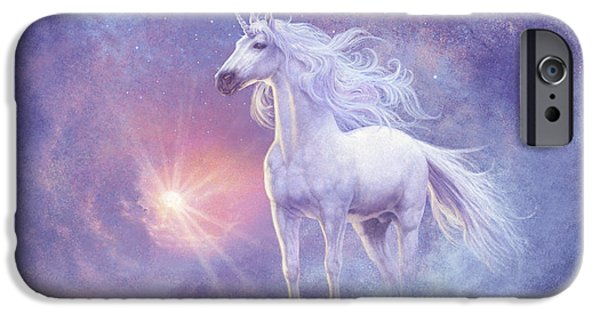 Mist iPhone Cases - Astral Unicorn iPhone Case by Steve Read
