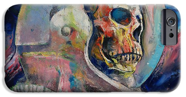 Frightening iPhone Cases - Astronaut iPhone Case by Michael Creese