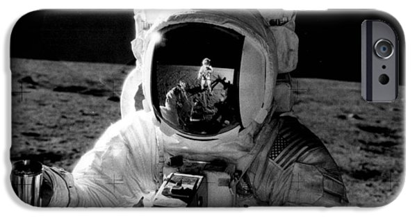Archives iPhone Cases - Astronaut on the moon iPhone Case by Retro Images Archive