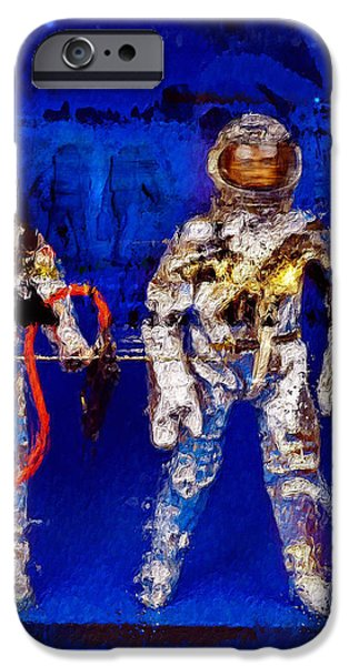 Science Fiction Mixed Media iPhone Cases - Astrotwins iPhone Case by Russell Pierce