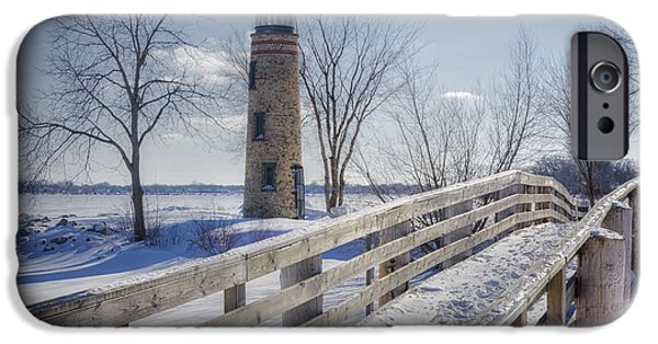 Lighthouse iPhone Cases - Asylum Point Lighthouse iPhone Case by Joan Carroll