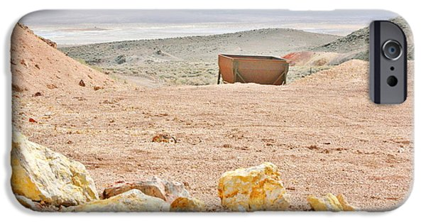 Mounds iPhone Cases - At A Mine Site iPhone Case by Marilyn Diaz