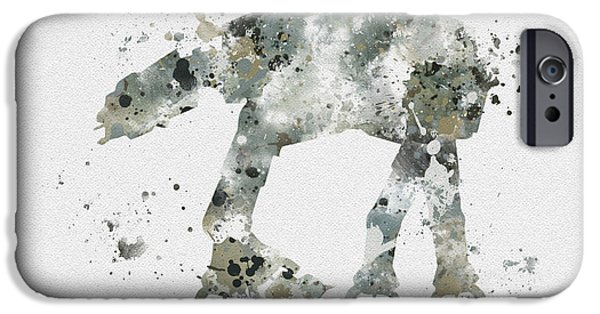 Science Mixed Media iPhone Cases - At - At iPhone Case by Rebecca Jenkins