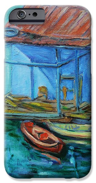 At Boat House iPhone Case by Xueling Zou