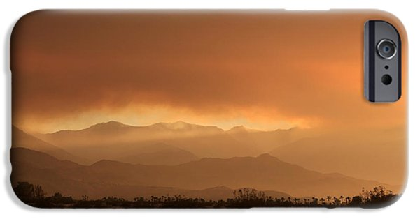 Wildfire iPhone Cases - At Least a Ray of Hope iPhone Case by Laurie Search