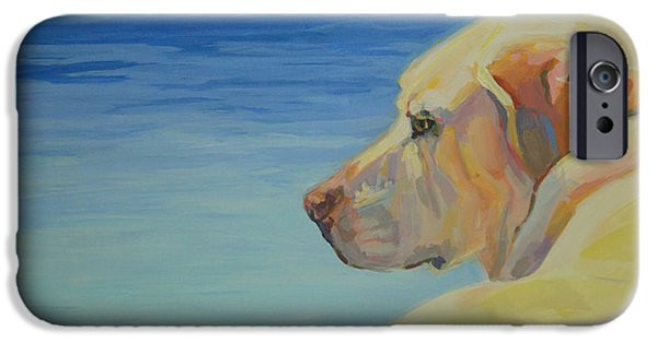 Yellow Labs iPhone Cases - At Peace iPhone Case by Kimberly Santini