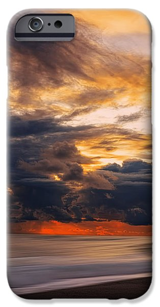Abstract Seascape iPhone Cases - At Peace iPhone Case by Lourry Legarde