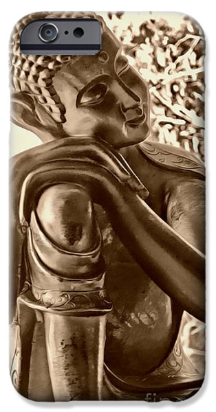 At Peace Sepia iPhone Case by Cheryl Young