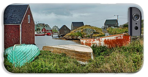 East Village iPhone Cases - At Peggys Cove iPhone Case by Nikolyn McDonald