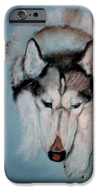 Huskies Pastels iPhone Cases - At Rest iPhone Case by Cori Solomon