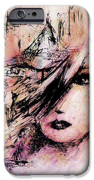 Jugglers iPhone Cases - At the Art Festival iPhone Case by Rachel Christine Nowicki