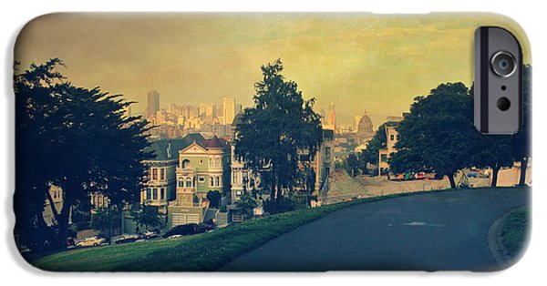 Urban Buildings iPhone Cases - At the Curve iPhone Case by Laurie Search