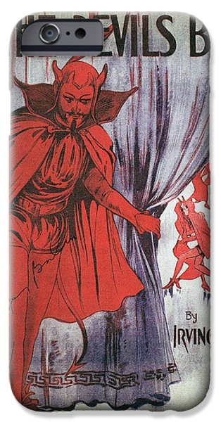 Berlin Drawings iPhone Cases - At The Devils Ball  iPhone Case by Francis  Chapman
