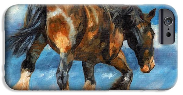 Horse Artist iPhone Cases - At The End Of The Day iPhone Case by David Stribbling
