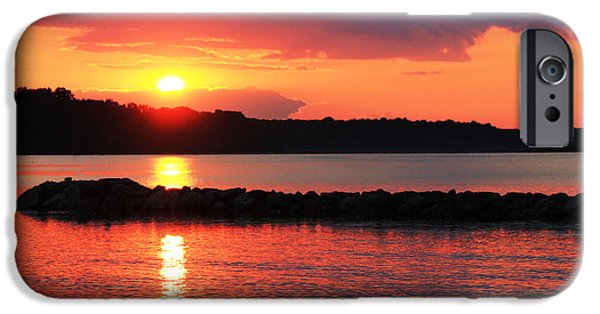 Yorktown Virginia iPhone Cases - At the End of the Day iPhone Case by Olahs Photography