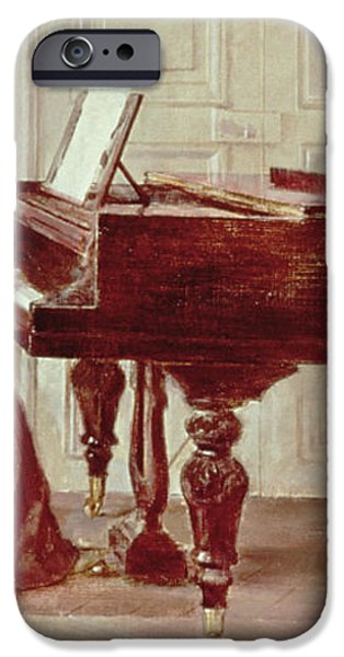 At the Piano iPhone Case by Theodore Robinson