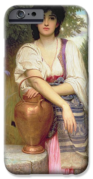 Pitcher iPhone Cases - At The Well iPhone Case by Charles Edward Perugini