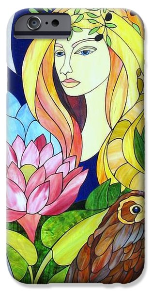 Print Glass iPhone Cases - Athena iPhone Case by Suzanne Tremblay