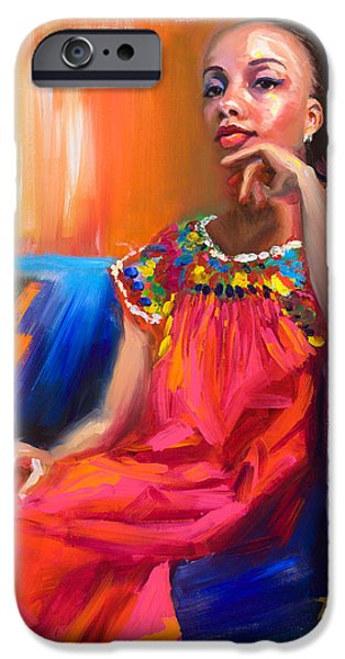 Pride Paintings iPhone Cases - Athena iPhone Case by Talya Johnson