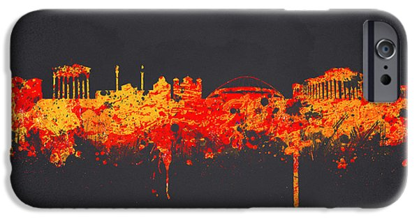 Athens iPhone Cases - Athens Greece iPhone Case by Aged Pixel