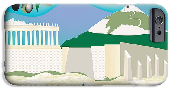 Athens iPhone Cases - Athens iPhone Case by Karen Young