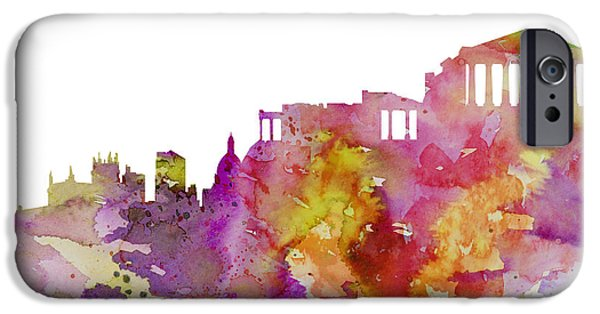 Athens iPhone Cases - Athens iPhone Case by Luke and Slavi