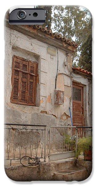 Athens Street Ruin iPhone Case by Deborah Smolinske