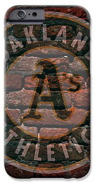Athletics Baseball Graffiti on Brick  iPhone Case by Movie Poster Prints