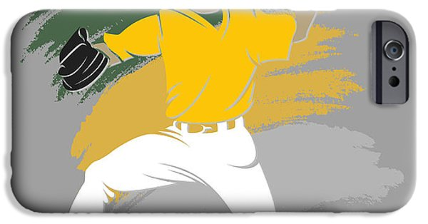 Athletics iPhone Cases - Athletics Shadow Player iPhone Case by Joe Hamilton