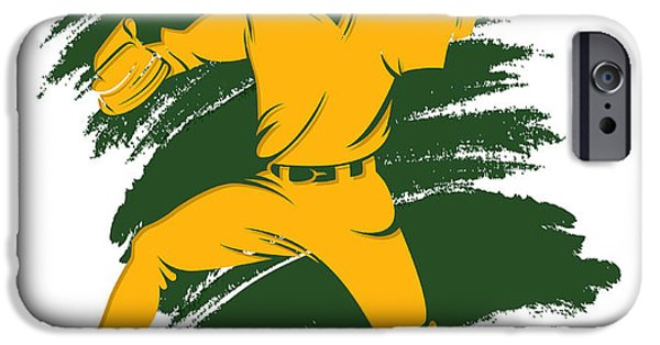 Athletics iPhone Cases - Athletics Shadow Player2 iPhone Case by Joe Hamilton
