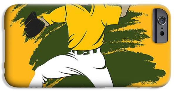 Athletics iPhone Cases - Athletics Shadow Player3 iPhone Case by Joe Hamilton