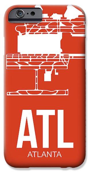 ATL Atlanta Airport Poster 3 iPhone Case by Naxart Studio