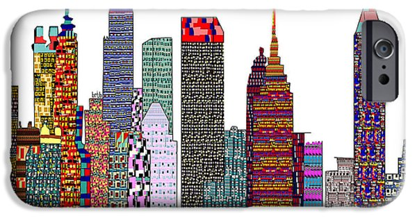 City Scape Mixed Media iPhone Cases - Atlanta City  iPhone Case by Bri Buckley