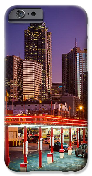 Drama iPhone Cases - Atlanta Drive-In iPhone Case by Inge Johnsson