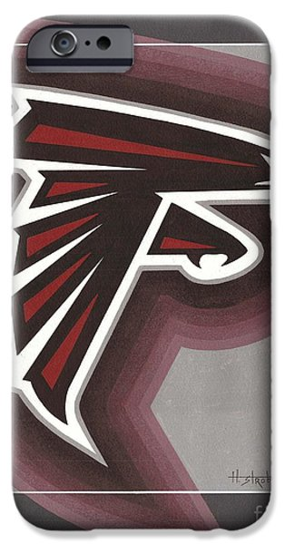 Atlanta Falcons Logo iPhone Case by Herb Strobino
